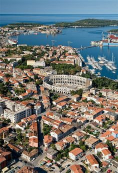 Rome's Croatian cousin, Pula Arena in Croatia was built nearly 2000 years ago. Montenegro, Places To Travel, Places To Visit, Best Places In Italy, Countries Europe, Pula, Croatia Travel, Bosnia, Slovenia