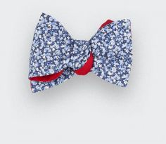 Noeud papillon CINABRE en coton Liberty Pepper bleu
