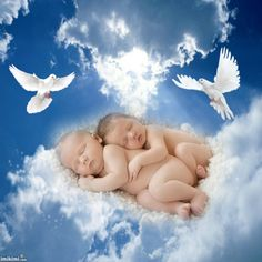 Dos Bebes Angelitos En El Cielo Wwwimagenesmycom