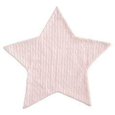 Cable Star Blanket Pink