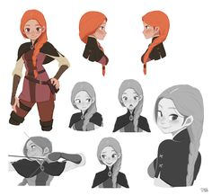 "*** 진 이미지 *** ArtStation - Robin hood ""Marion"", Hong SoonSang Character Design Cartoon, Character Design References, Character Drawing, Character Design Inspiration, Animation Character, Character Sketches, Monster Draw, Monster Anime, Illustration Fantasy"