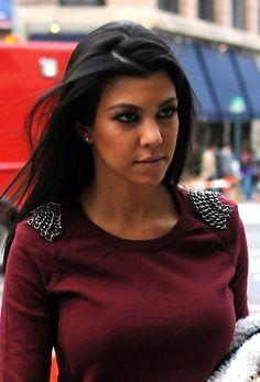 Kourtney Kardashian makeup & hair.