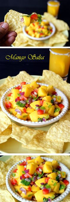 A bright, colorful and vibrant Mango Salsa perfect for the celebrations. The slight sweetness form the mango paired with the tang of the lime makes it a treat for the taste buds.