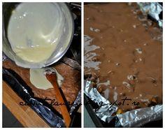 Prajitura Snickers, un deliciu cu nuca, caramel si ciocolata - Casuta Laura Creme Caramel, Pudding, Desserts, Candies, Cream, Tailgate Desserts, Creme Brulee, Deserts, Custard Pudding