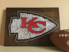 Kansas City Chiefs string art. A personal favorite from my Etsy shop https://www.etsy.com/listing/245978770/kansas-city-chiefs-string-art