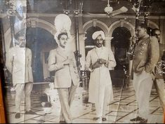 Maharaj Rana of Dholpur (in turban) and Maharaj of Bharatpur , India Independence, Those Were The Days, Turban, Gun, Royalty, Culture, Indian, Royal Families, History