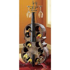 1000 images about musical on pinterest gift ideas lps and record bowls - Cello wine rack ...