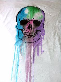 Hardwick Watercolour Skulls Double Duvet Cover by LincolnCraftClub, £50.00