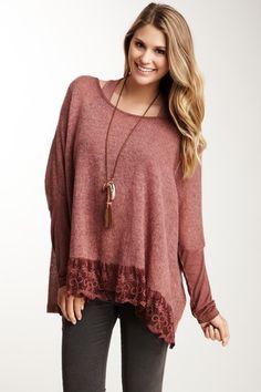 Luma Italian Knitwear  Lace Trim Sweater