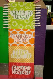 Behavior Chart - Jakes second grade teacher used this and it worked like a charm with the kiddos :)