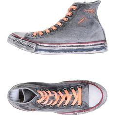 Converse Limited Edition Sneakers ($166) ❤ liked on Polyvore featuring shoes, sneakers and grey