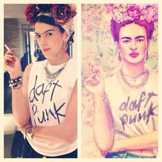 Inspiração de look para curtir o carnaval: Fantasia de Frida