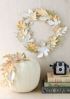Honey and Me Bittersweet Pumpkin Country Fall Medley 14 x 14 Artificial Harvest Wreath