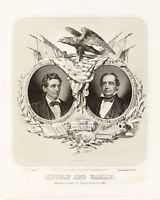 ABRAHAM LINCOLN 1860 Presidential Campaign Poster 8 x 10 History Civil War