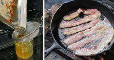 Stop throwing away your bacon grease - here are 11 nifty ways to use it at home. How To Store Strawberries, Food Hacks, Food Tips, I Want To Eat, Air Fryer Recipes, Grease, Food For Thought, Nifty, Bacon