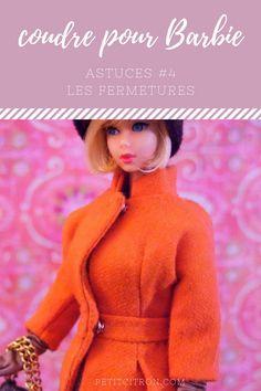 Astuces pour coudre des vêtements de poupées mannequins (comme les Barbie) - #4 les fermetures Le 4ème billet de la série sur les vêtements de Barbie!
