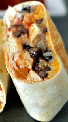 20 Minute Low Fat Healthy Chicken Burrito Recipe