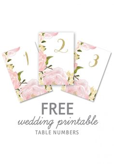 Floral wedding printables from Wonderland Invites! Download and print these paper goods for free for your big day.