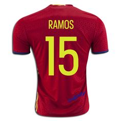 2016 UEFA Euro Spain Sergio Ramos 15 Home Soccer Jersey,you can find this jersey in this site:http://www.u4pay.com
