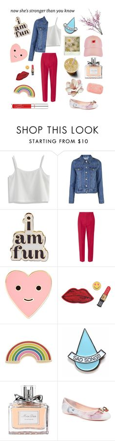 """""""😇 Can't  P I N  me  D O W N 😇"""" by nymphet-adriana ❤ liked on Polyvore featuring Chicwish, Topshop, ban.do, Valentino, Decree, Georgia Perry, Stay Home Club, Christian Dior and Ted Baker"""
