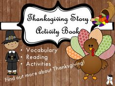 Hey, friends!This Thanksgiving story was written thinking about how to make foreign students eager to learn about this tradition. It is also very useful for native speakers, as it reinforces information and maybe adds new facts. Besides the 400 word original story I also included an activity book containing reading comprehension exercises, vocabulary exercises and Thanksgiving activities.