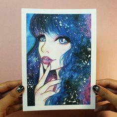 7693a88d4 Dibujos De Colores, Pintura Y Dibujo, Porta Celulares, Galaxias, Dibujar,  Cumple