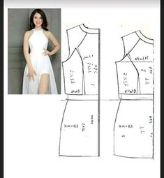 Dresses with printable template: Cutting and Sewing - Creativity - Michelle Gaines Pantalon Thai, Clothing Patterns, Sewing Patterns, Sewing Collars, Sewing Sleeves, Most Beautiful Pictures, Pattern Design, Strapless Dress, Printables