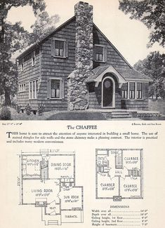 1928 Home Builders Catalog - The Chaffee by American Vintage Home, via Flickr