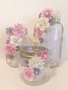 Paper Flower Jars sparkle Unicorn | Etsy