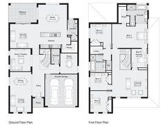 Sherwood 42 || Floor Plan - 386.30sqm, 12.20m width. 19.20m depth || Clarendon Homes Floor Plans