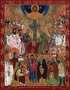 Saints of Scotland - beautiful icon!