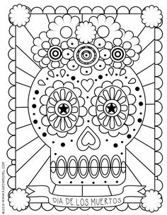 dia de los muertos coloring sheet  @jacqueheredia @Nicki Clark Clark Roy we need to copy this!