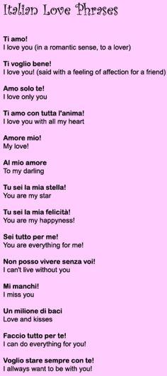 italian love phrases love phrases 300x676