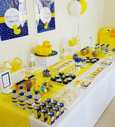 Yellow Rubber Duck Party - Dessert Table by Wunderkind Celebrations {www.wunderkind.ae}