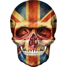 Skull art: British flag skull! ; ) (art T-shirt via creanova.fr)