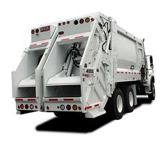 Get a look at the awesome 40 60 split body rear loader from Heil Environmental. Pick up two waste streams with one truck!