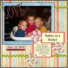 Babies in a basket