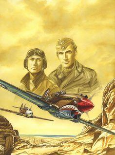 Planche originale de bande dessinée, galerie Napoléon  : LE FAUCON DU DESERT - Couverture originale du Faucon du Désert Tome 1 - Cover page