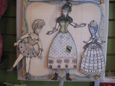 Composition by Lisa Marie Guerin working with Character Constructions art stamps.