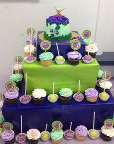 Cupcakes and Cakepops Tinkerbell Themed 3rd Birthday