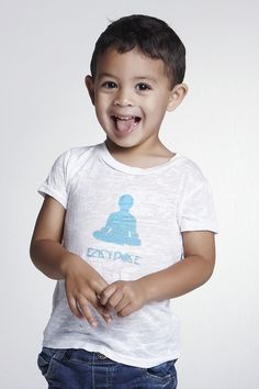 Toddler Burnout Yoga T: Easy Pose