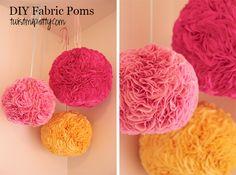DIY Fabric Poms | Twist Me Pretty