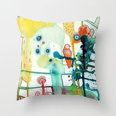 """""""murmure"""" pillow by Sylvie Demers"""