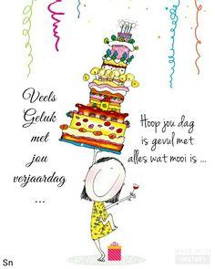 Veels Geluk met verjaardag, hoop jou dag is gevul met alles wat mooi is. Happy Birthday For Her, Best Birthday Wishes, Birthday Messages, Happy Birthday Cards, Birthday Greetings, Baie Dankie, Lekker Dag, Guys And Dolls, Birthday Pictures