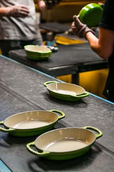 Visit a Le Creuset factory. Fascinating!