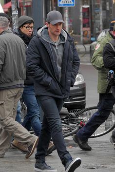 Actor Richard Armitage seen filming on November 23 2015 in Berlin Germany
