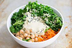 Vegana rica en hierro Kale Tahini Plato de Arroz |  El Viet vegano |  Grande…