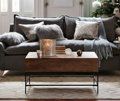 Rustic Storage Coffee Table from West Elm | House & Home