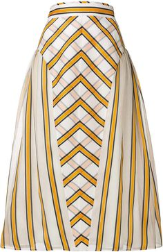 Fendi flared striped skirt