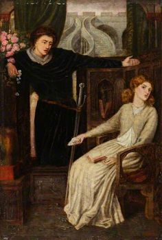 Hamlet and Ophelia (after Dante Gabriel Rossetti) by Henry Treffry Dunn
